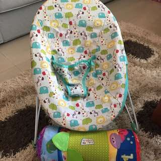 Baby Cradle With Safety Belt + Play Pillow
