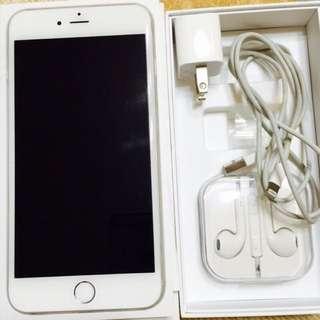 Apple Iphone6 plus 5.5吋 64G 銀色 全機包膜