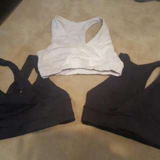 Three Sport Bras - $65 for all three or $25.00 each