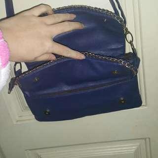 藍色側肩背包包