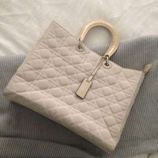 Cream Quilted Bag