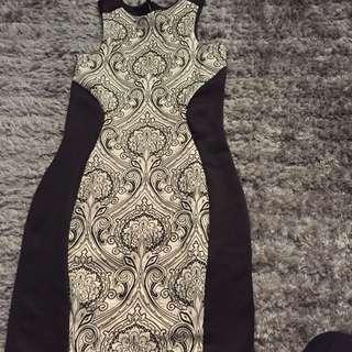 Bodycon Dress Size 8/s Aus