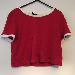 Red Crop T Shirt