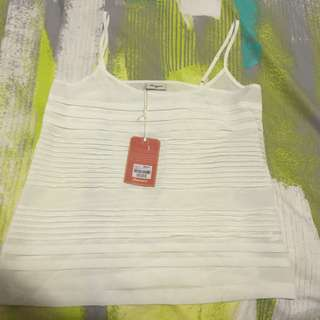 Jeans West Pleated White Top - 30