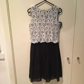 Club Lace Overlay Dress