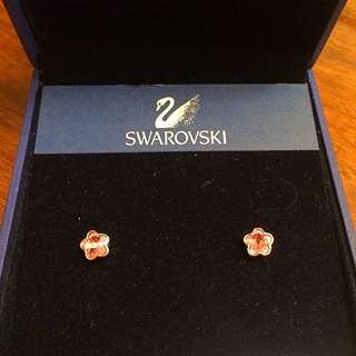 Authentic Swarovski Flower Stud Earrings