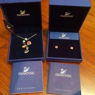 Authentic Swarovski Necklace & Earrings Set