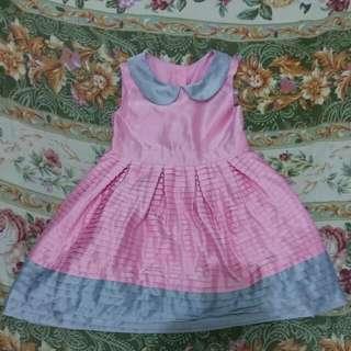 Pink-Gray Silk Dress