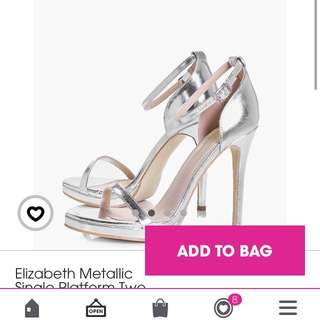 Brand New Silver Boohoo Shoes