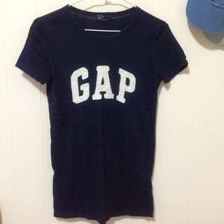 Gap拼布上衣(深藍)