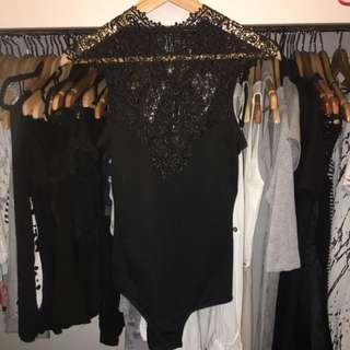 Black Lace Leotard
