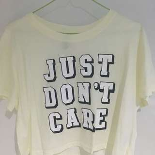 Just Dont Care Yellow Tshirt from H&M