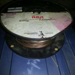 Remaining Roll Of Top Quality Speaker Wire