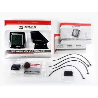 Sigma 1609 無線 踏頻 碼表