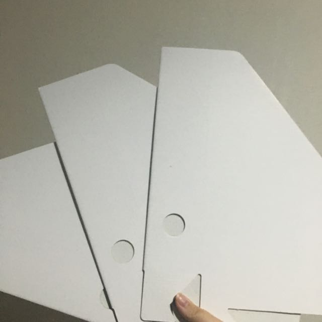 3 White Binders