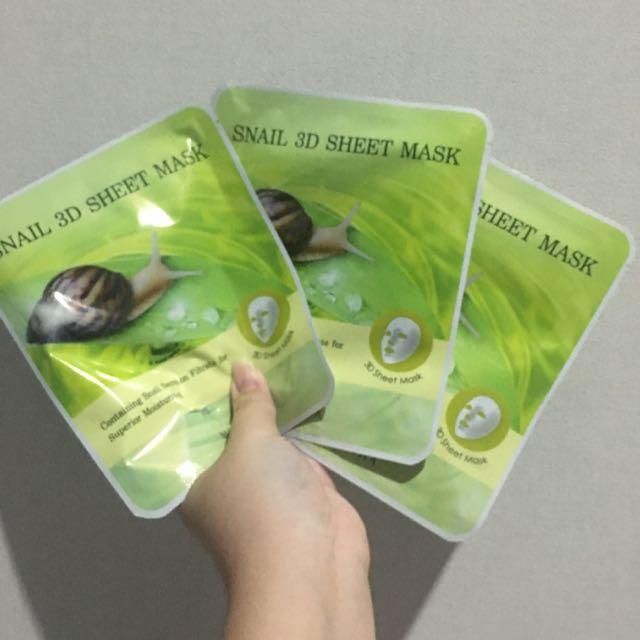 3d Snail Sheet Mask from Missha