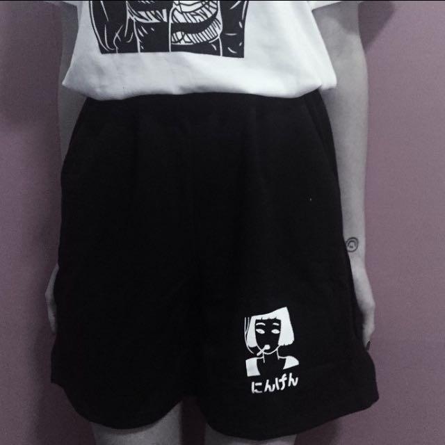 擴腿短版運動褲