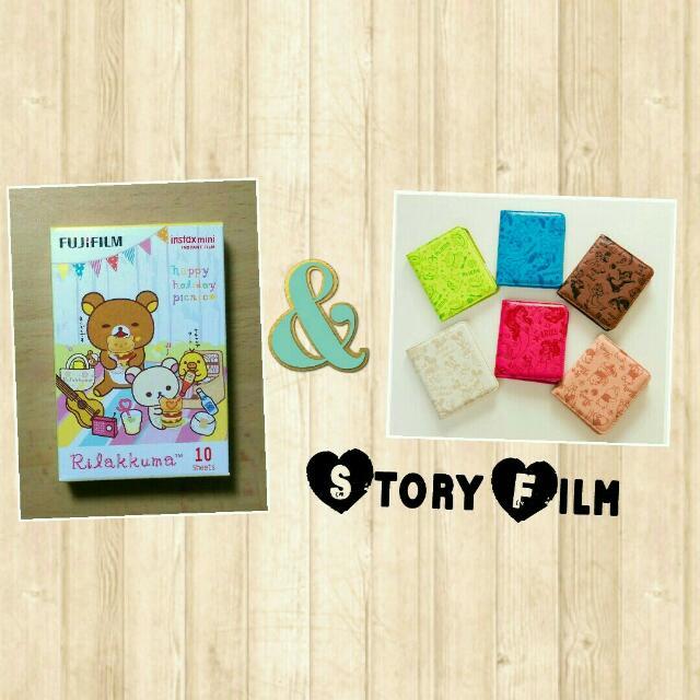 一盒拉拉熊-野餐底片+一本迪士尼相簿(款式任選) 另售 空白底片