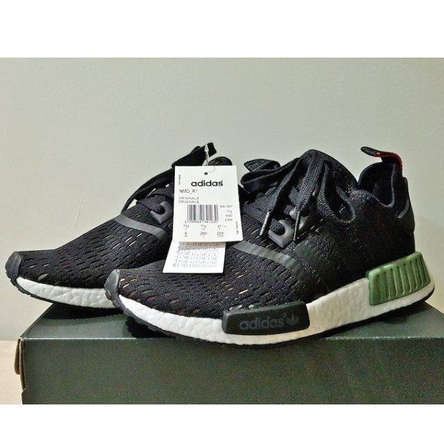 3f198cf15638f Adidas NMD R1 Base Green-Core Black-White Footlocker Europe ...