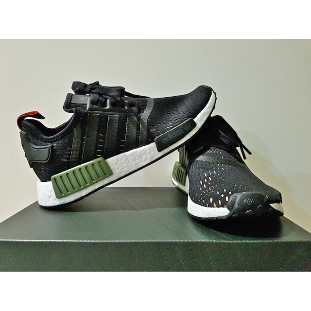 8bda12d5c1c25 Adidas NMD R1 Base Green-Core Black-White Footlocker Europe Exclusive