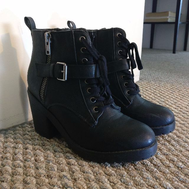 Black Ankle Boots (with heel)