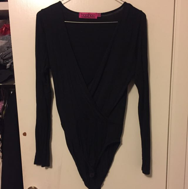 Black Long Sleeve Body Suit