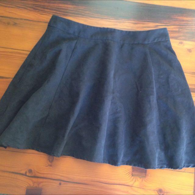 High Waisted Velvet skirt