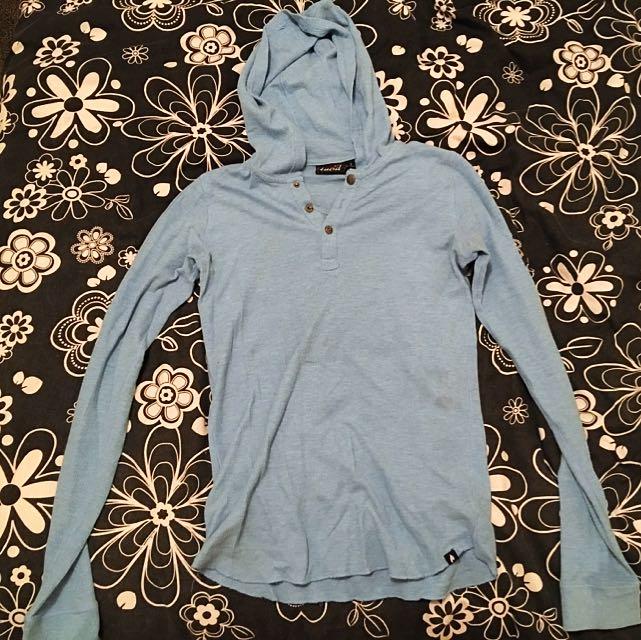 Blue Lucid Hooded Shirt