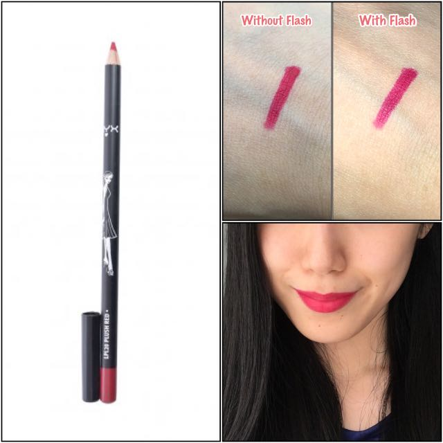 [BN] NYX Long Lip Pencil, Plush Red