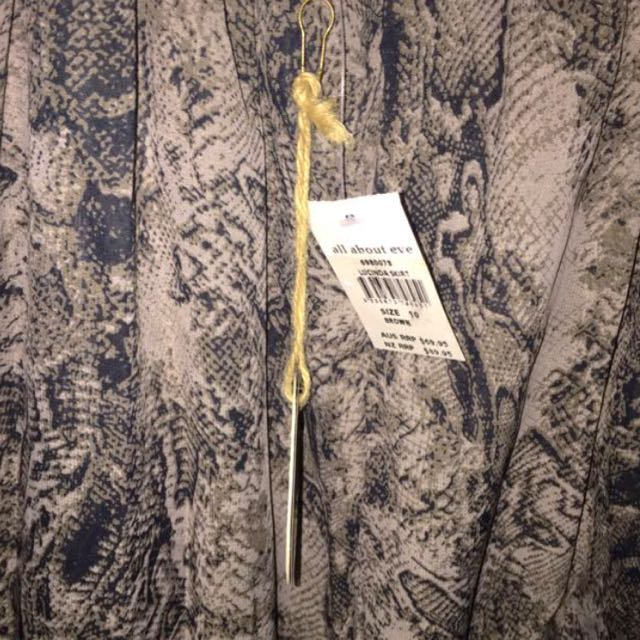 BNWT All About Eve Snake print Multilayered Midi Skirt