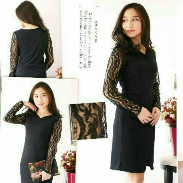 Brukat Dress Spandex Black