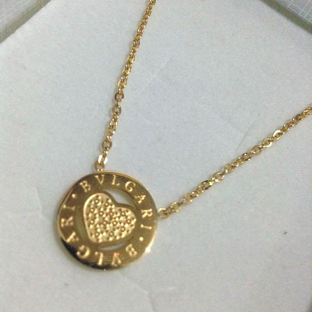 Bvlgari Heart Round Necklace
