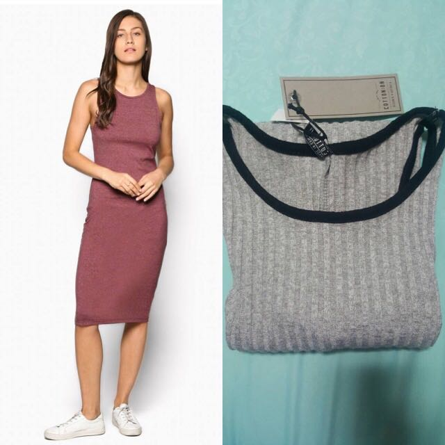 Cotton On Knitted Midi Dress