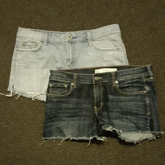 Denim Cutoffs Abercrombie And American Eagle 10
