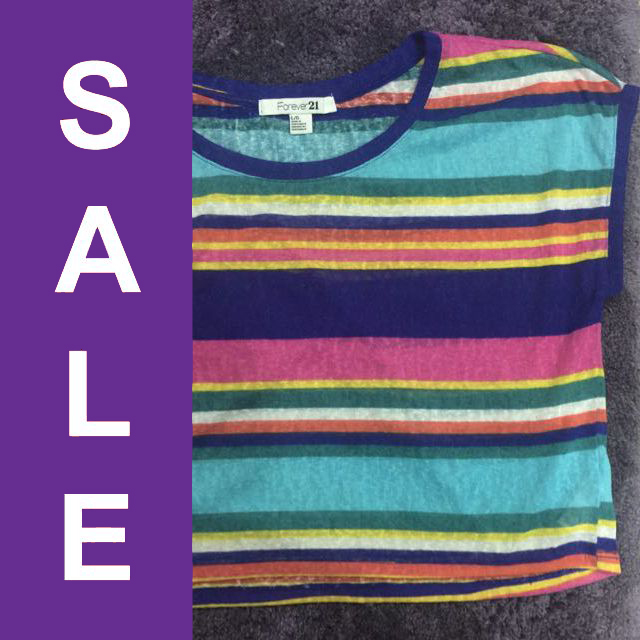 Forever 21 Striped Crop Top (REPRICED)
