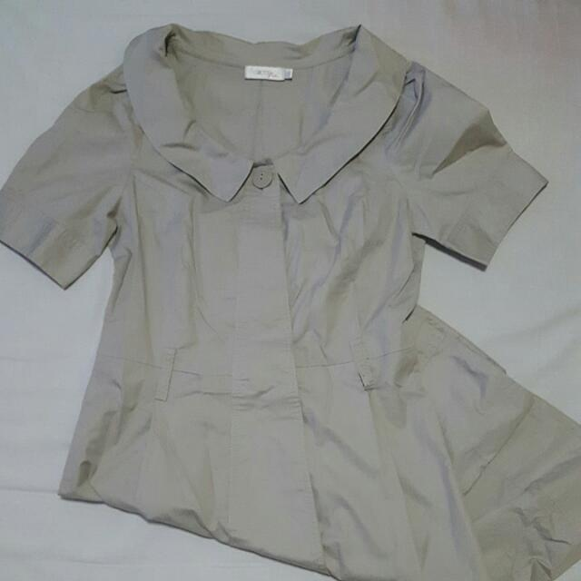 G2000 Khaki Button Down Dress