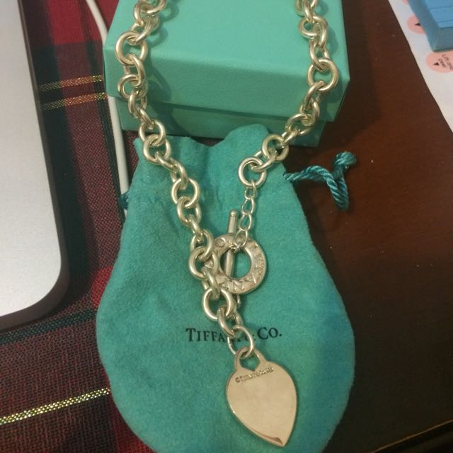 Genuine Tiffany And Co Toggle Necklace