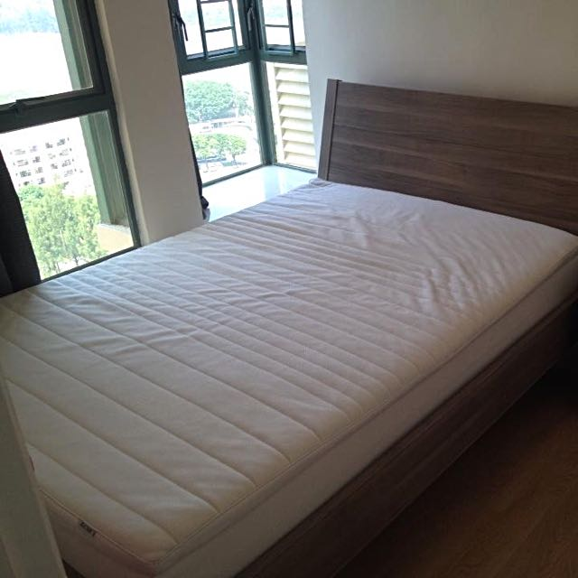 Great Condition Queen Bed Frame And Queen Mattress
