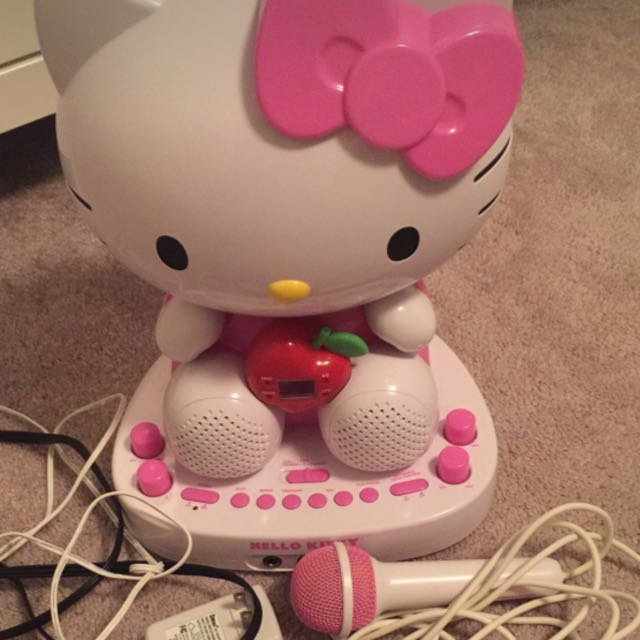 Hello Kitty Karaoke With Microphone And Cam