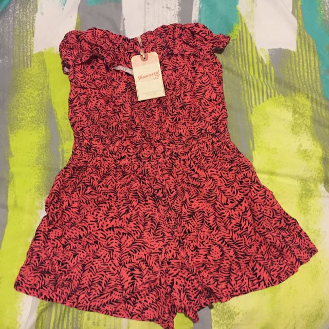 Jeans West Coral Playsuit - $40
