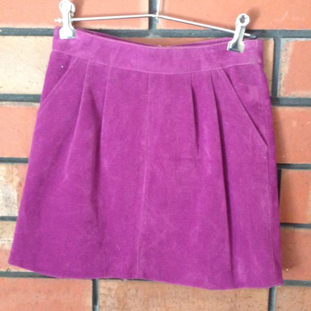 Minkpink Purple Mini Skirt