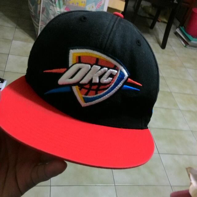 NBA 雷霆隊Oklahoma City 刺繡圖騰棒球帽
