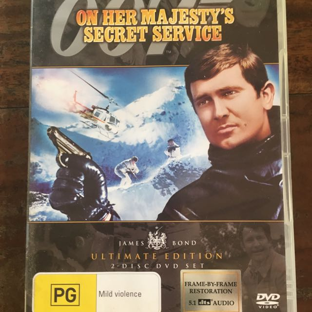 On Her Majesty's Secret Service DVD