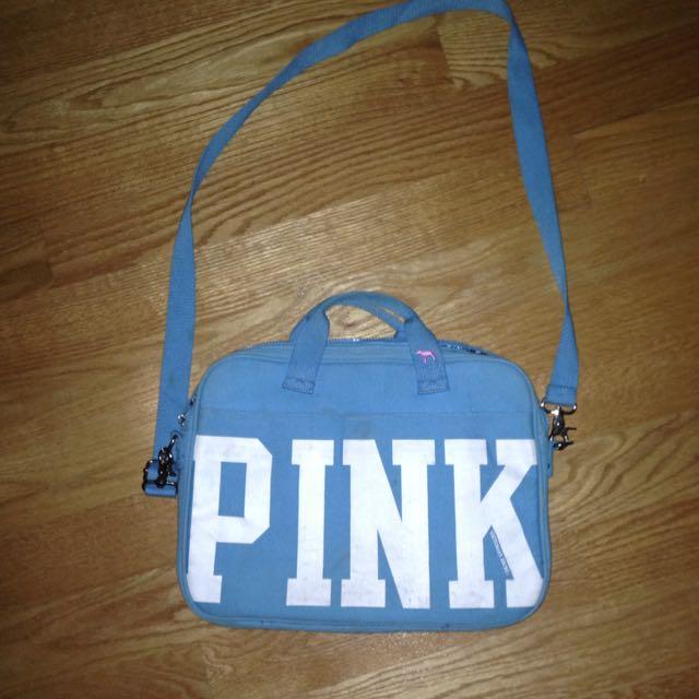 Pink Victoria's Secret Laptop Case