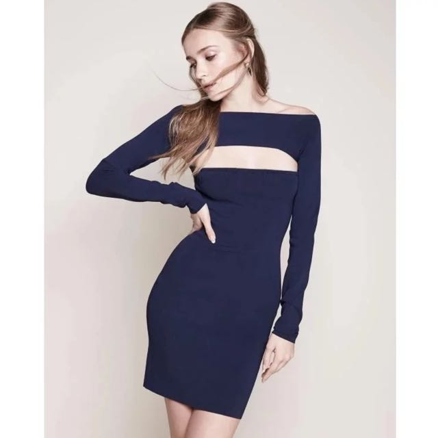 [PO DS16] Cut Out Long Sleeve Bodycon Dress