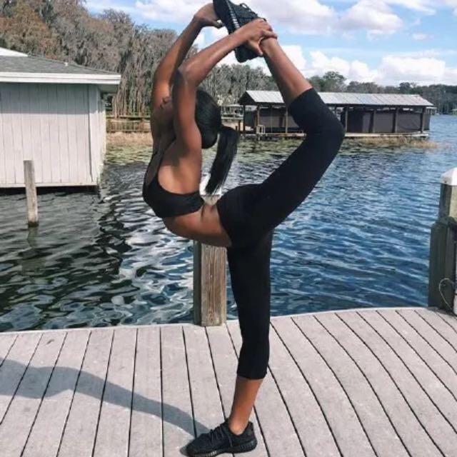 [PO YG02] Lululemon Inspired Cropped Yoga Sports Pants