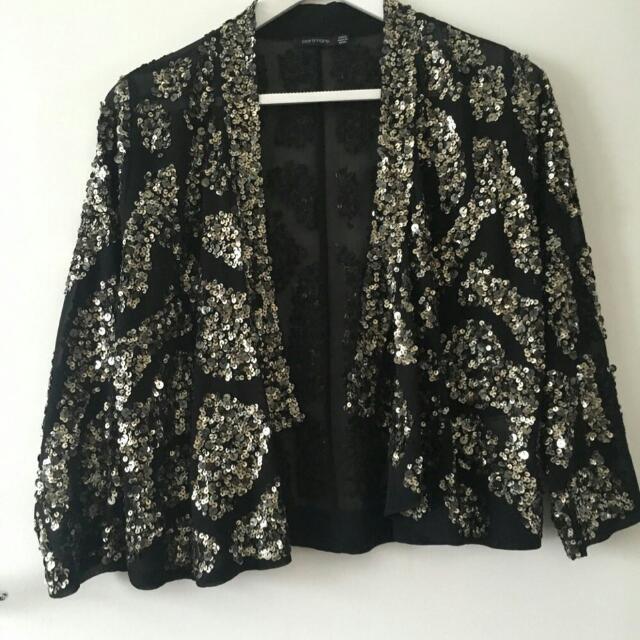 Portmans Sequinned Cropped Jacket