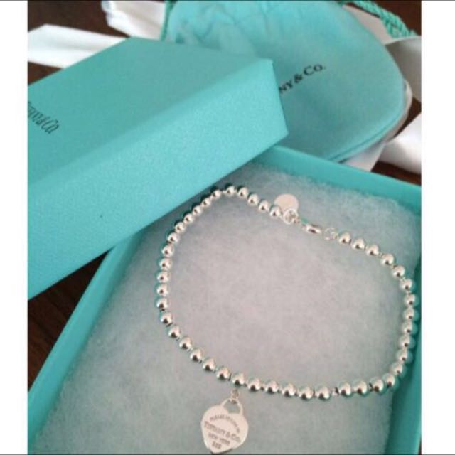 REAL Tiffany & co Mini Bead Bracelet In Original Box And Bag With Receipt