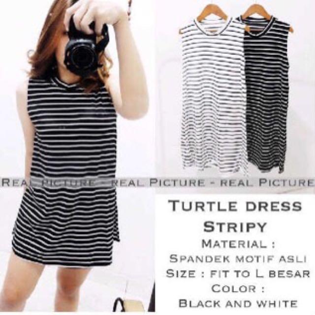 Turtle Dress Stripe