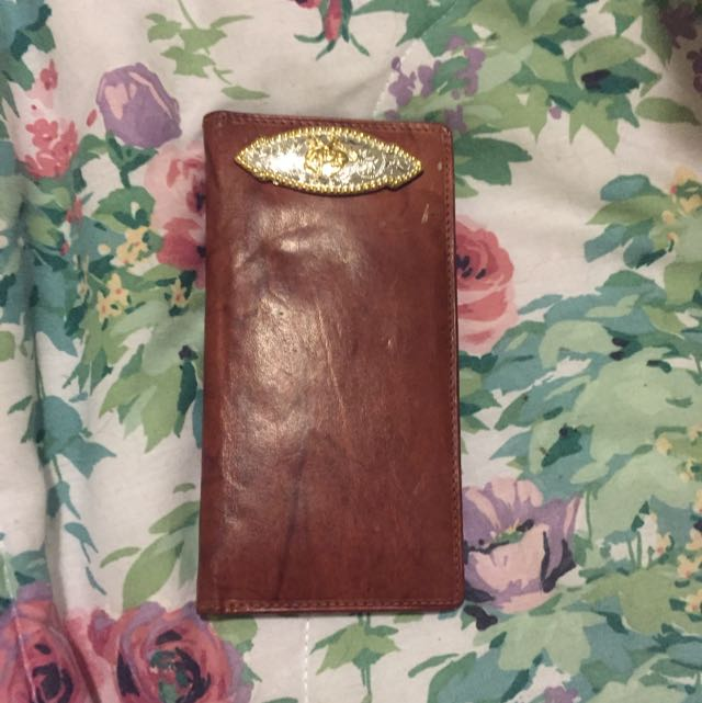 Vintage Leather Cowboy Wallet